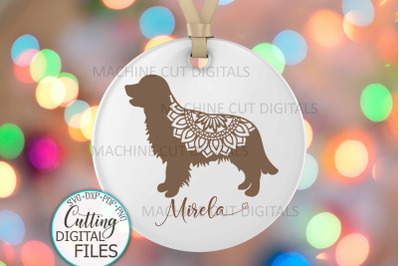 Golden Retriever Layered Mandala Dog sign svg dxf cut out template
