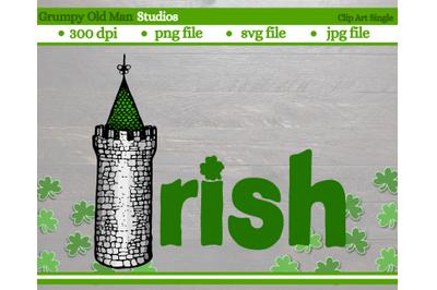 Irish castle tower