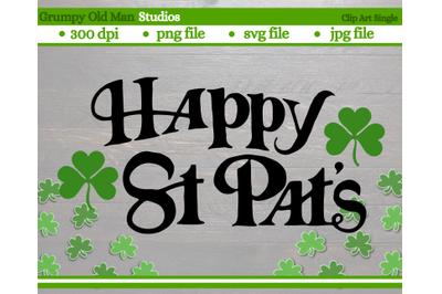 Happy Saint Patrick's Day cut file