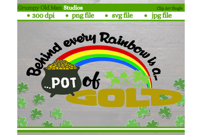 Pot of Gold |  Rainbow | Saint Patrick' s Day cut file