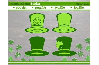 Saint Patrick's Day top hat | Leprechaun hat with clovers