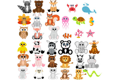 Forest animals bundle svg, woodland animal svg, animal svg, safari ani