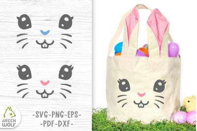 Easter bunny face svg Easter basket svg design Easter svg cut files