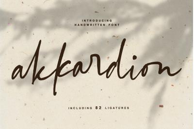 akkardion - handwritten modern font