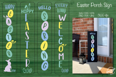Porch easter. Easter porch sign. Easter welcome sign. Stencil SVG