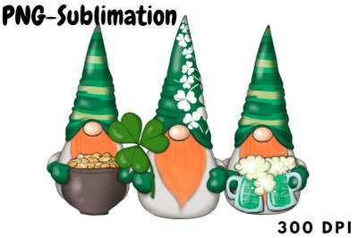 March Gnomes Sublimation Png St.Patricks Day