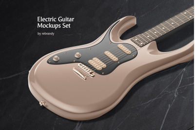 Electric Guitar Mockups Set