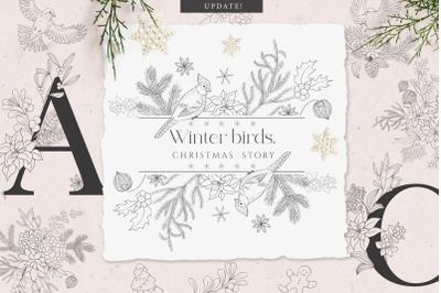 Winter birds. Christmas Story.