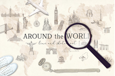 Around the World. Travel Bundle.