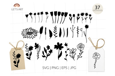 Meadow flowers svg for shirt. Wildflower svg t shirt quotes bundle. Sp
