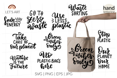 Zero waste svg, eco friendly svg, organic svg, ecology svg, hand lette