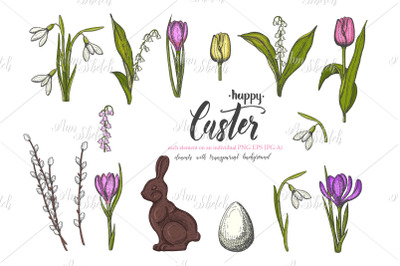 Vector Spring Easter set