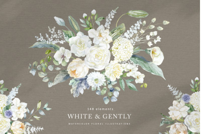 White & Gently Wedding Collection.