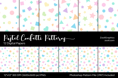 Pastel Confetti Digital Papers