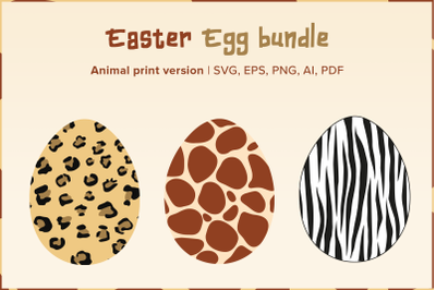 Easter Egg Bundle | Animal Print Version