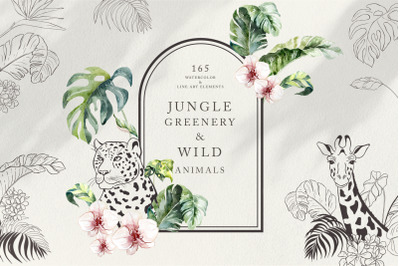 Jungle Greenery & Wild Animals.