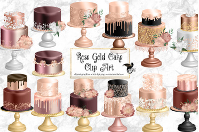 Rose Gold Cakes Clip Art