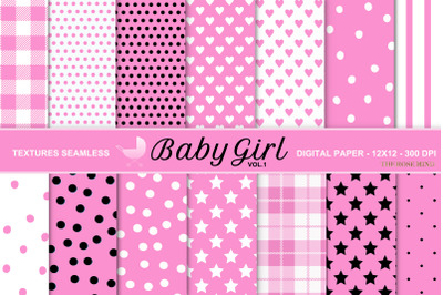 Baby girl, seamless texture, vol. 1