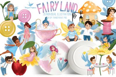 Fairy / elf Land set of 26 individual illustrations
