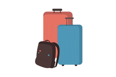 Baggage flat color vector object