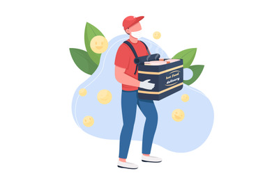 Food delivery flat concept vector illustration