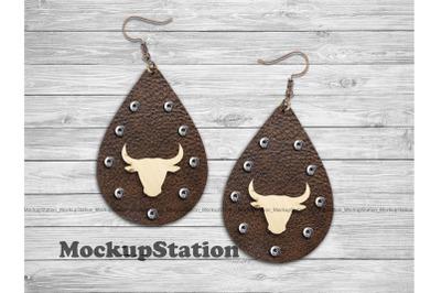 Western Drop Earring Sublimation Design, Southwest Teardrop Earring