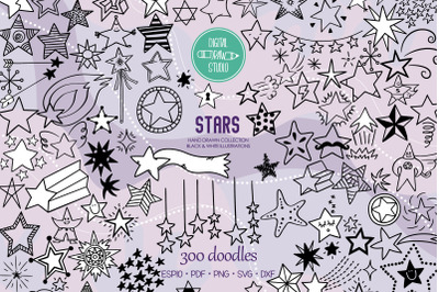 Star Doodles | Hand Drawn Constellation, Shooting Star, Garland