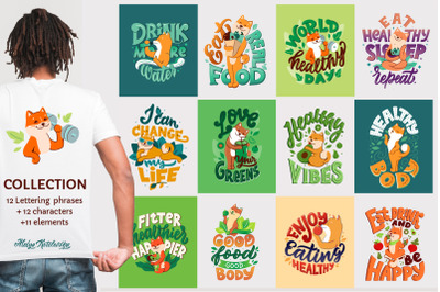 Collection for healthy life designs
