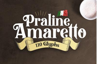 Praline Amaretto - Vintage Font