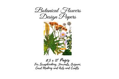 Vintage Botanical  Full Page Floral Sheets #2