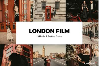 20  London Film LR Presets