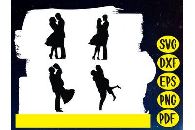 Love ,Couple, Silhouette ,Clip art