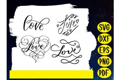 Love, Calligraphy, Heart
