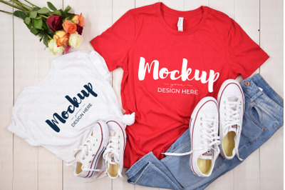 Mother Daughter Matching Shirt Mockup