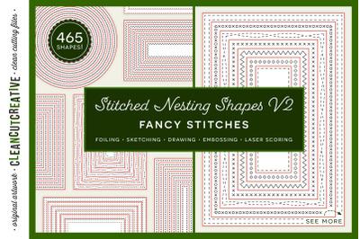 Stitched Nesting Shapes V2 Fancy Stitches | sketch foil SVG card makin