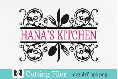 Kitchen Monogram Svg, Kitchen Svg, Cooking Svg, Chef Svg