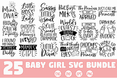 Baby Girl SVG Bundle