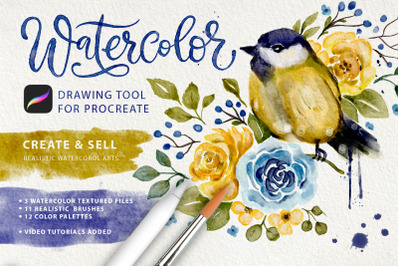 Watercolor Tool Kit for Procreate