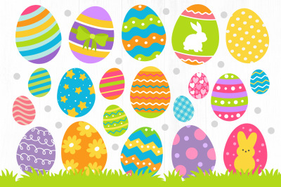 Easter Eggs Clipart, Easter Graphics