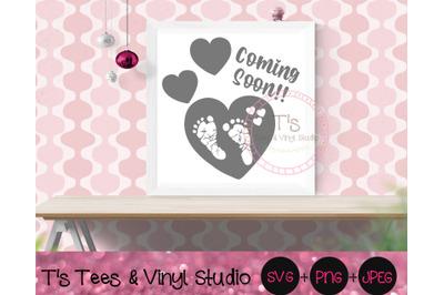 Baby Coming Soon, We're Having A Baby, Pregnancy Announcement, Footpri