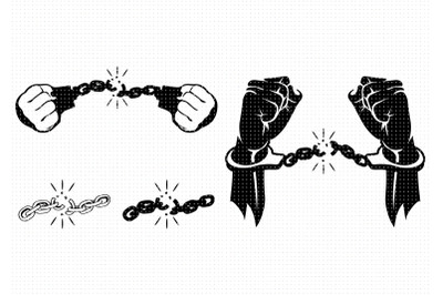break free from chains svg, handcuffs clipart, png, dxf logo, vector
