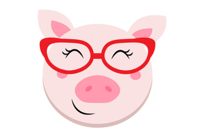 Girl pig svg, Cute pig svg, cute girl pig svg, clipart, funny pig svg,