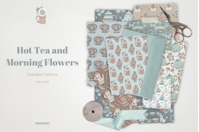 Hot Tea and Morning Flowers Patterns