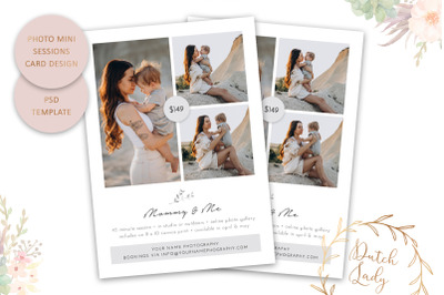 PSD Photo Session Card Template #76