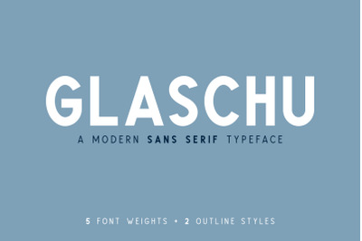 Glaschu Sans Serif Font Family