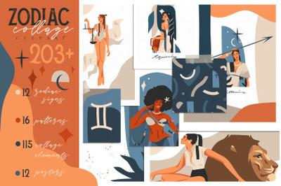 Zodiac collage clipart