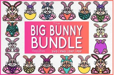 THE BIG BUNNY BUNDLE 16 Cute Bunny Easter Designs