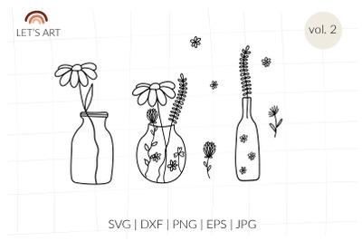 Mason jar svg, floral bottles svg, wildflowers svg. Fragrance aromathe