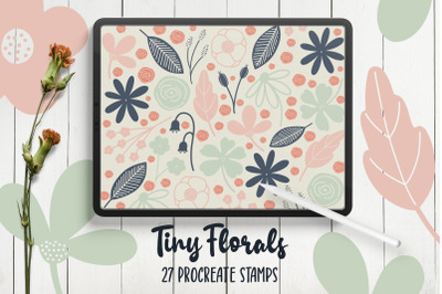 Hand Drawn Florals Procreate Stamps