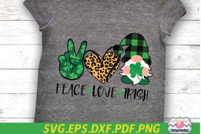Peace Love Irish, St Patricks Day, Saint Patricks Gnomies, Shamrock